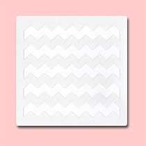 Chevron - Bakery Decorating Stencil - Square 5.5